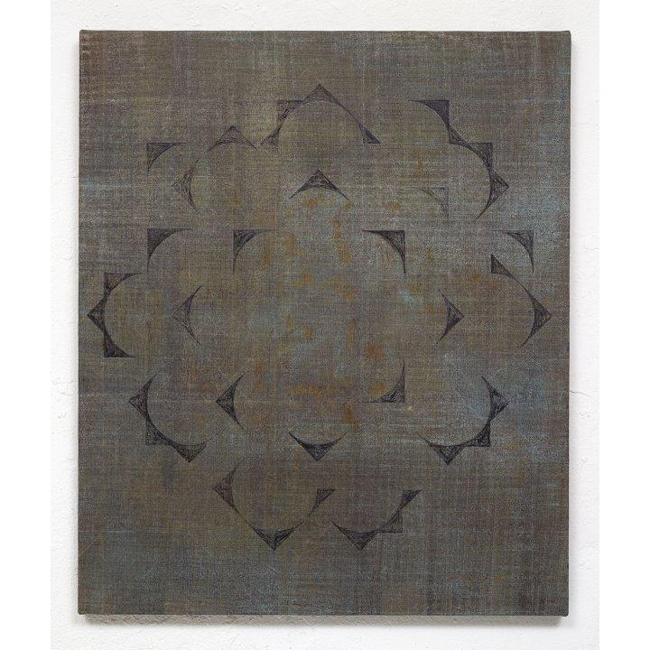 Claudia Larissa Artz, Himmelsrichtungen VII, pigments on linen, painting