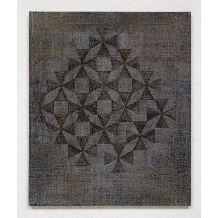 Claudia Larissa Artz, Himmelsrichtungen II, Pyramide, pigments, linen, painting