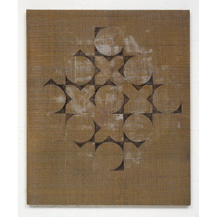 Claudia Larissa Artz, Himmelsrichtungen III, Thangka, pigments, linen, painting