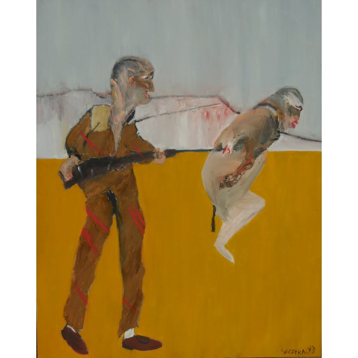 Michael Hafftka, Two Figures, 1983 war painting