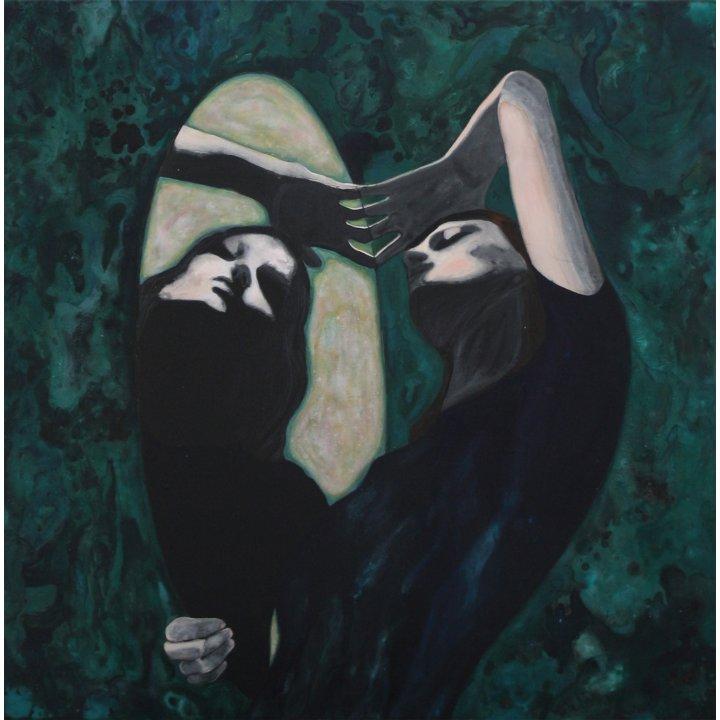 Cosima Hawemann, Spiegelung (Reflection), 2018, painting on canvas, Zeitgenössische Kunst