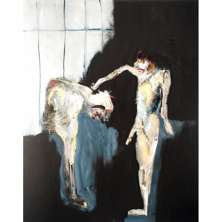 Michael Hafftka, Authority, 1986, painting about the Holocaust