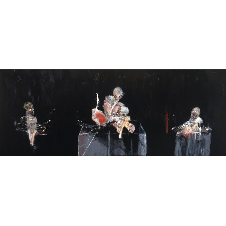 Michael Hafftka, Ceremony, 1987, painting about the Holocaust