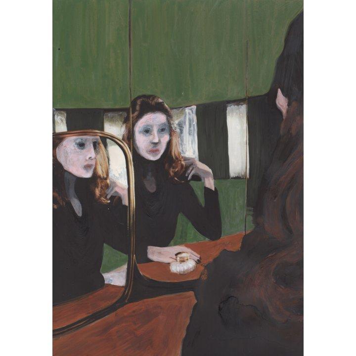 Cosima Hawemann, from the series, Spiegelung (no. 3), 2018, painting on paper Zeitgenössische Kunst