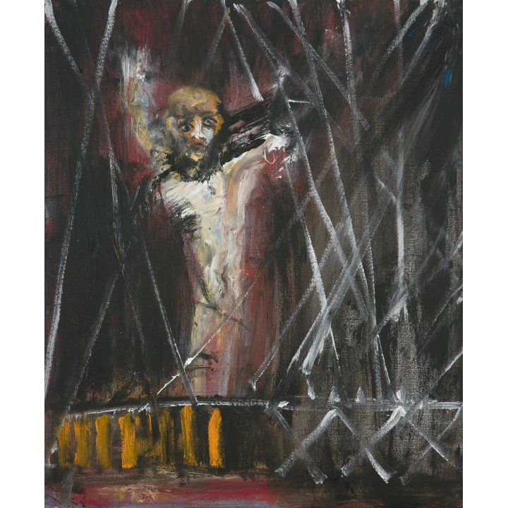 Michael Hafftka, Night Crossing, 2007, painting about the Holocaust