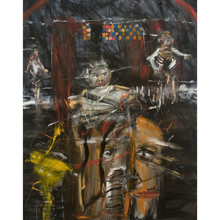 Michael Hafftka, Babel, 2008 Holocaust Memorial painting