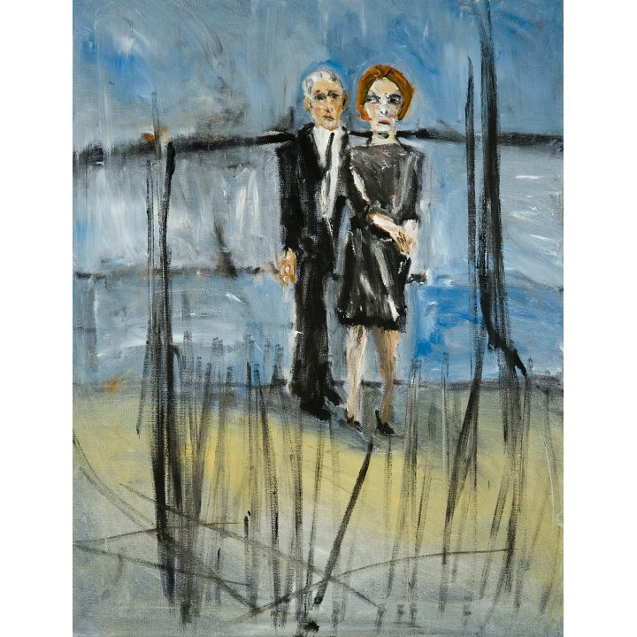 Michael Hafftka, My Parents, 2008 Holocaust Memorial painting