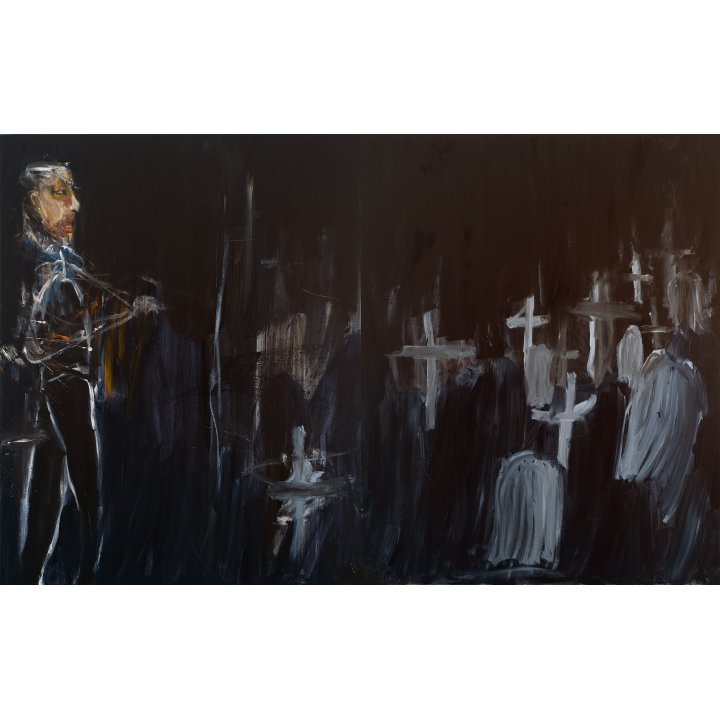 Michael Hafftka, Audience, 2011 Holocaust Memorial painting cemetery