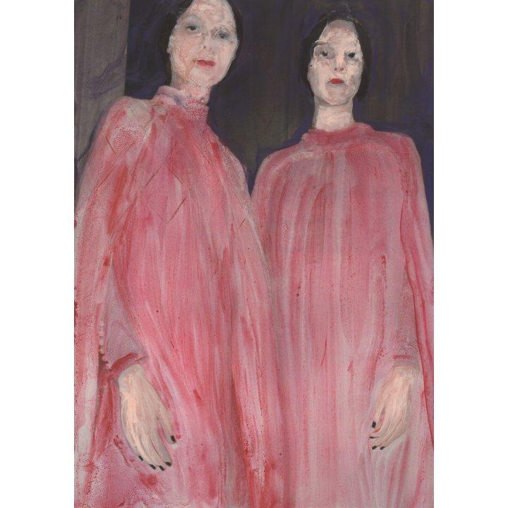 Cosima Hawemann, from the series, Twins, 2017, painting on paper, Zeitgenössische Kunst