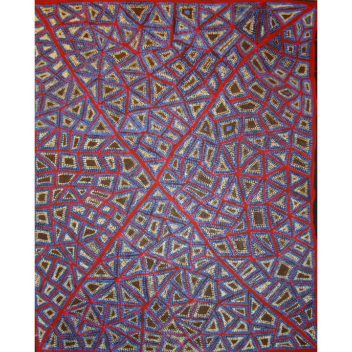 Adrian Young, Kurningka (Tjika-tjika) aboriginal painting abstract art