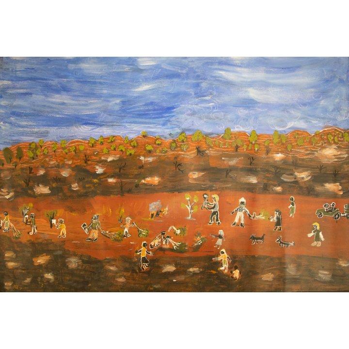 Eunice Porter, aboriginal painting, Warakurna Artists