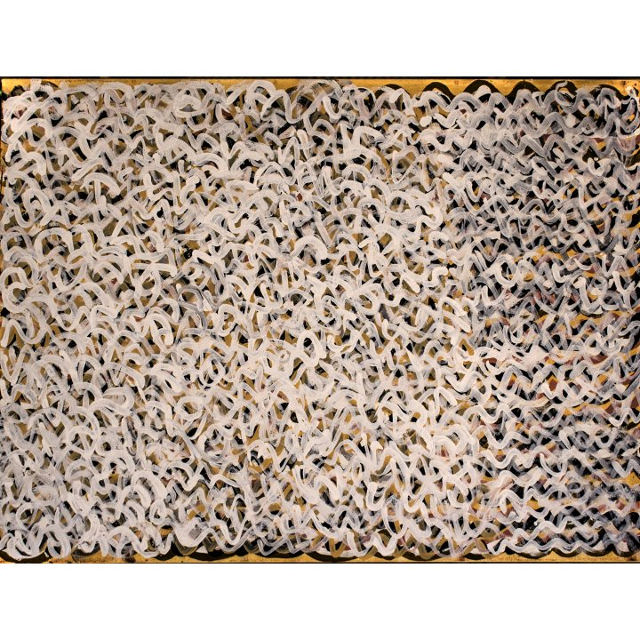 Kittey Ngyalgarri Malarvie, Milkwater, 2018 natural ochre and pigments on canvas, 60 x 80 cm Aboriginal art