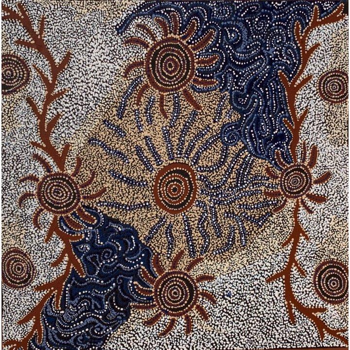 Meredith Treacle, aboriginal dot painting