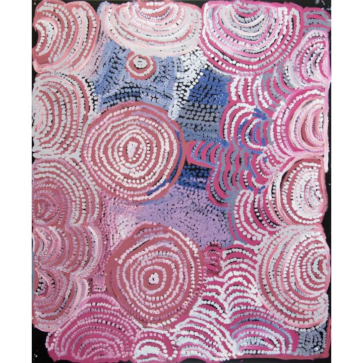 Nyarapayi Giles, Warmurrungu, aboriginal painting pink