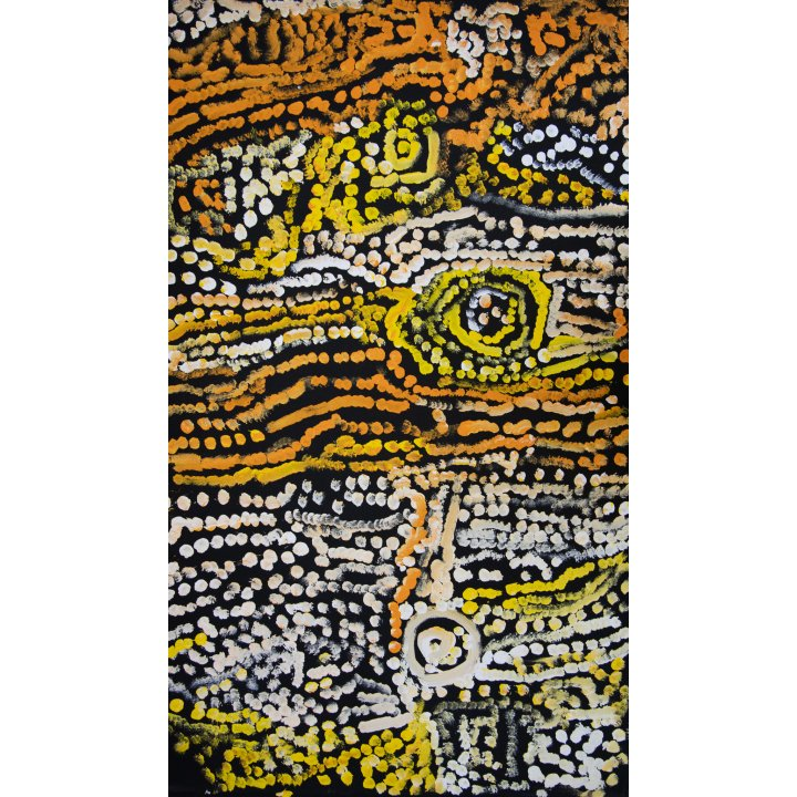 Neville Niypula Mcarthur, aboriginal art, Warakurna Artists, Galerie Zadra