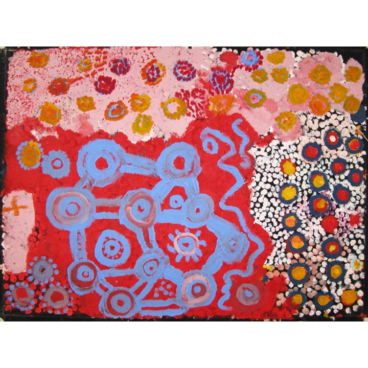 Neville Macarthur, Marlu Tjukurpa (Marlu Dreaming) aboriginal painting abstract art