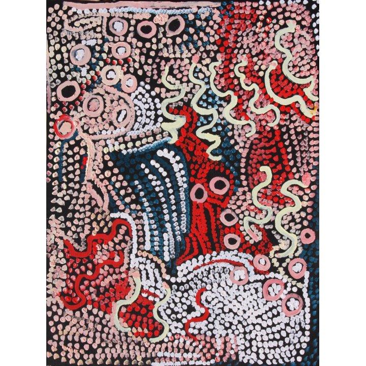 Rachel Yukultja Jennings, Tjitji Kutjarra, 2013 Aboriginal art