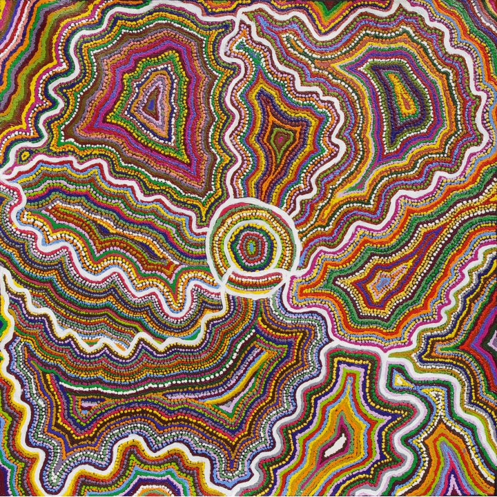 Samuel Miller, Ngayuku Ngura (My Country) aboriginal painting abstract art