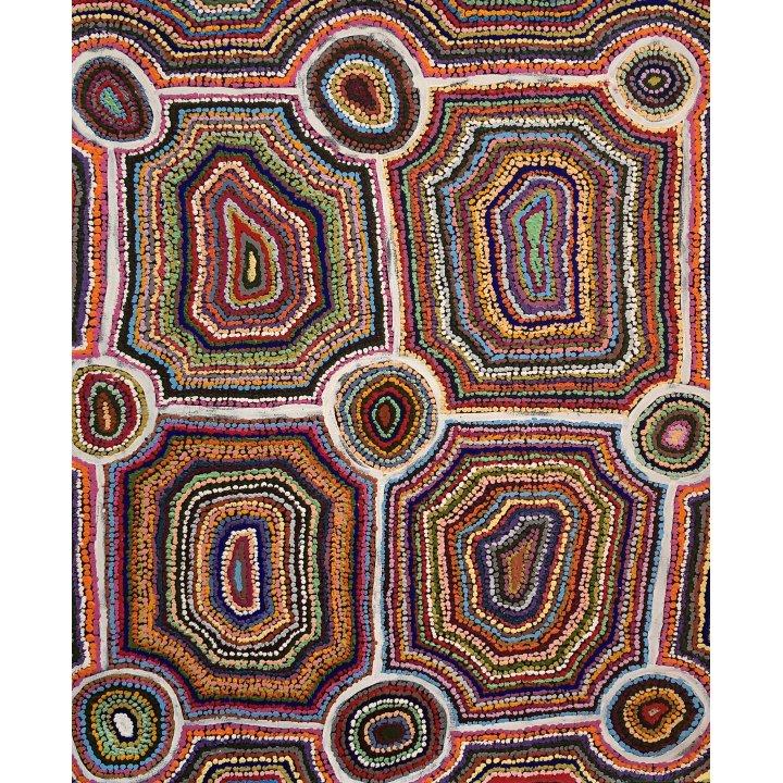 Samuel Miller, Aboriginal art dot painting, Ninuku Arts, Galerie Zadra