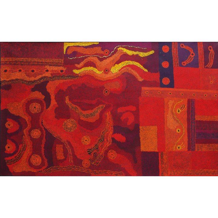 Tjungkara Ken, Seven Sisters, aboriginal painting abstract art