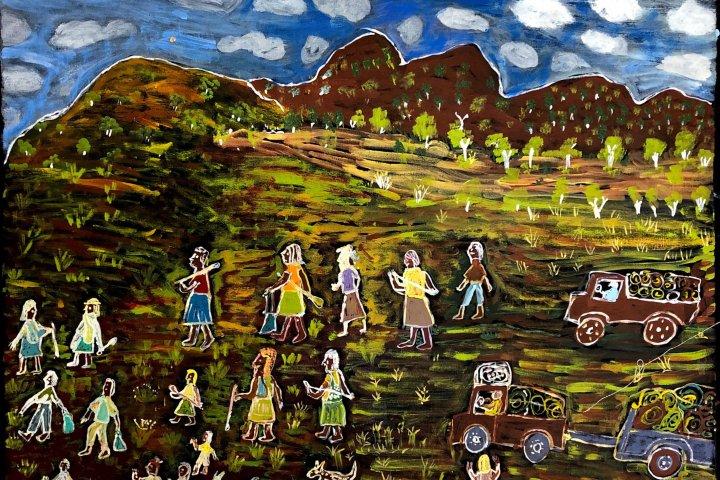Eunice Porter, Warakurna Artists, Aboriginal painting