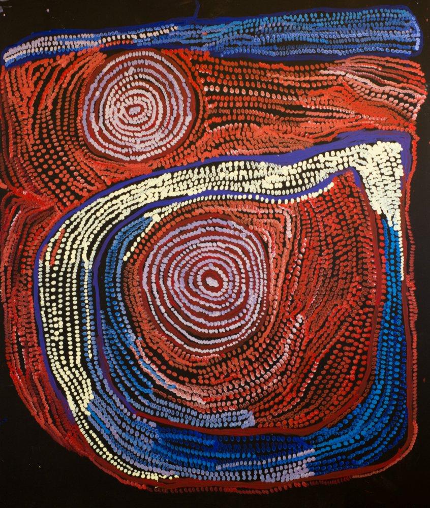 Nyarapayi Giles, Warmurrungu, Aboriginal painting Tjarlirli Art
