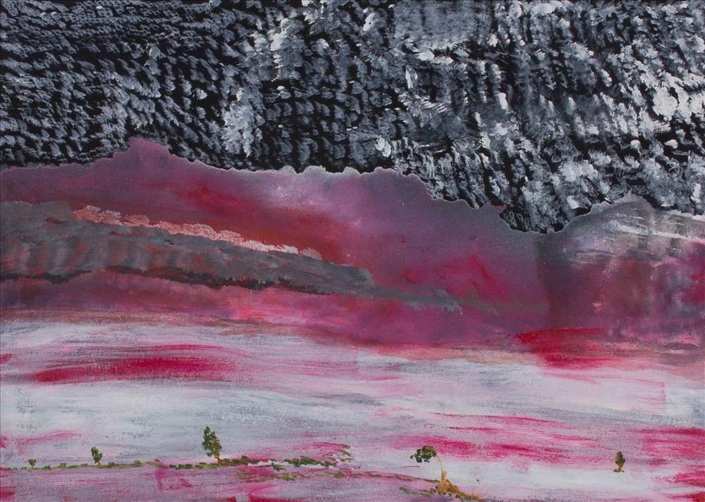 Victor Burton, aboriginal art painting, night sky