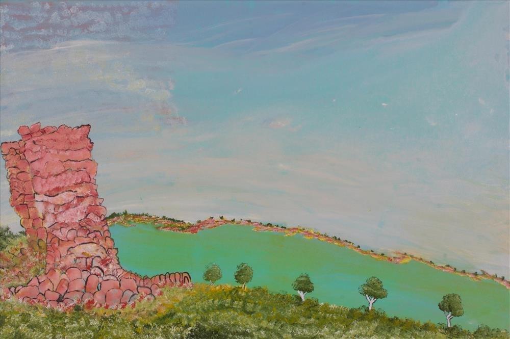 Victor Burton, aboriginal art landscape painting
